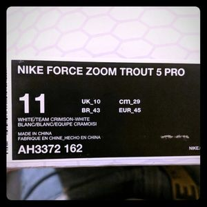 Nike Force Zoom Trout 5 Pro Mens Baseball Cleats